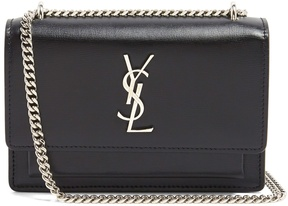 Saint Laurent Sunset leather cross-body bag - NAVY - STYLE