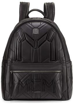 MCM Bionic Coated Neoprene Medium Backpack, Black