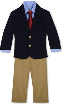 Nautica 4-Piece Poplin Jacket, Pants, Shirt & Tie Set, Baby Boys