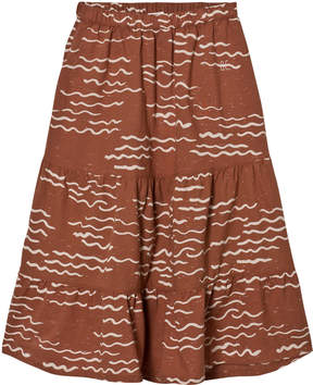 Bobo Choses Burnt Orange Tide Maxi Skirt