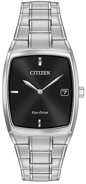 Citizen Men's Eco-Drive Stainless Tonneau Bracelet Watch