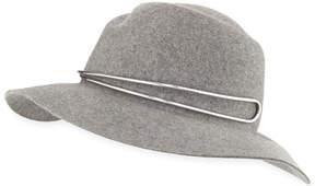 Rag & Bone Zoe Fedora Hat w/ Silvertone Hardware