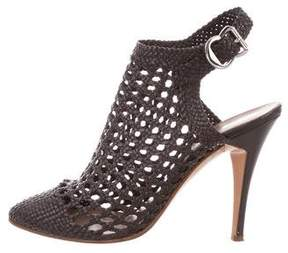 Sigerson Morrison Woven Leather Ankle Boots