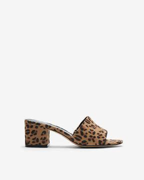 Express Leopard Low Heel Slide Mules