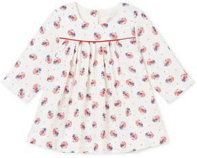 Petit Bateau BABY GIRLS PRINT TUBE KNIT DRESS