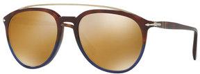 Persol Reflex Edition PO3159S Mirrored Pilot Sunglasses, Terra e Oceano