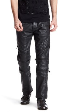 Cult of Individuality Rebel Coated Straight Leg Moto Jean