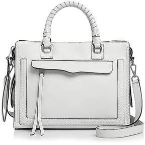 Rebecca Minkoff Bree Medium Top Zip Satchel - BIANCO/SILVER - STYLE