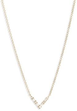 Ef Collection Women's Diamond Baguette Pendant Necklace