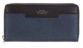 Smythson Bicolor Leather Wallet