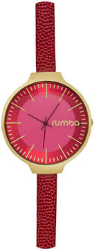 RumbaTime Women's Orchard Leather Merlot Dial Watch
