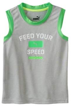 Puma Boys Core Speed Muscle Tank Top Grey 4T - Toddler