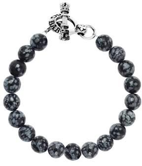 King Baby Studio Men's Agate Bead Bracelet