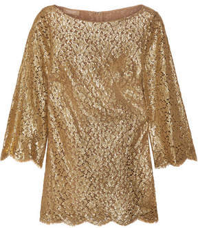 Michael Kors Collection - Metallic Guipure Lace Blouse - Gold
