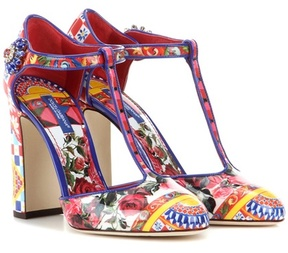 Dolce & Gabbana Printed patent leather pumps