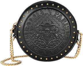 Balmain Disco Studded Black Circle Crossbody Bag
