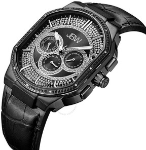 JBW Men's Orion 0.12 ctw Diamond Black Ion-Plated Watch