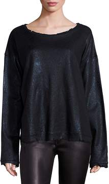RtA Women's Beal Distressed Long Sleeve Top