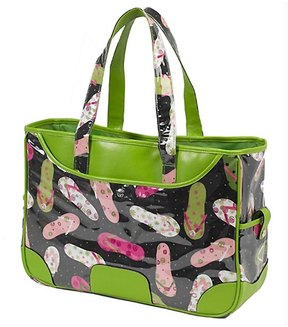 Picnic at Ascot Large Beach Tote 30339