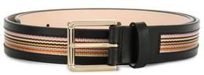 Paul Smith Men's Black Leather Belt.