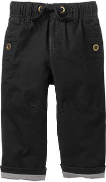Gymboree Black Jersey-Lined Ripstop Pants - Infant & Toddler