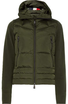 Moncler Fleece And Quilted Shell Down Ski Jacket