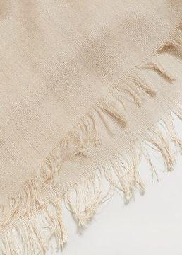 Violeta BY MANGO Metal thread scarf