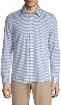 Hyden Yoo Men's Striped Cotton Button-Down Shirt
