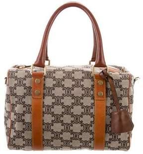 Celine Leather-Trimmed Canvas Bag