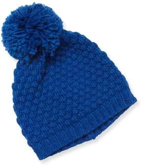 Portolano Women's Ribbed Pom Hat
