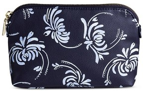 Merona Women's Navy Floral Clutch