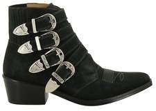 Toga Pulla Women's Green Suede Ankle Boots.