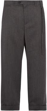 Craig Green Wide-leg cropped wool trousers