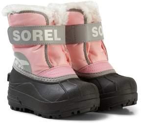 Sorel Pink and Grey Children's Snow Commander Boots