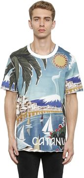 Catania Printed Cotton Jersey T-Shirt