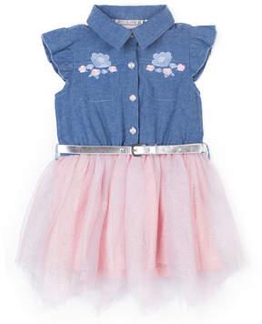 Little Lass Sleeveless Tutu Dress - Toddler Girls