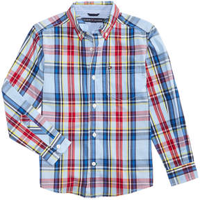 Tommy Hilfiger Andy Plaid Cotton Shirt, Little Boys (4-7)