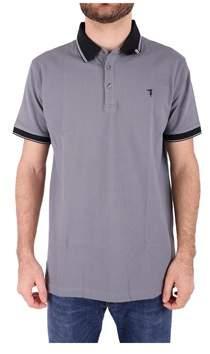 Trussardi Men's Grey Cotton Polo Shirt.