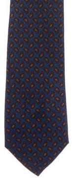 Turnbull & Asser Paisley Print Silk Tie