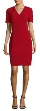 Elie Tahari Roanna Dress Satin Sheath Dress