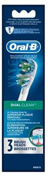 Oral-B Dual Clean Replacement Electric Toothbrush Head - 3ct