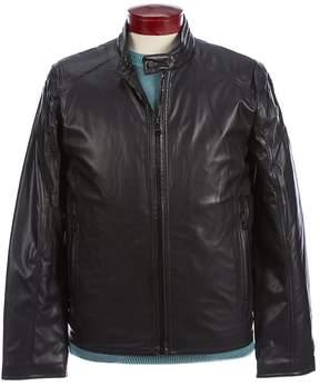 Andrew Marc Faux-Lambskin Motorcycle Jacket