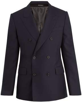 Alexander McQueen Double-breasted peak-lapel wool jacket