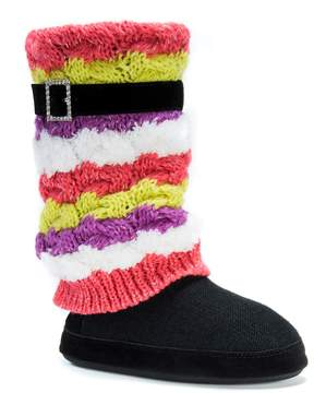 Muk Luks Women's Fiona Striped Boot Slippers
