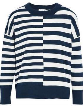 Equipment Striped Cotton And Silk-Blend Sweater