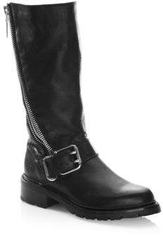 Frye Samantha Leather Mid-Calf Boots