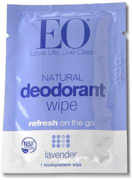 EO Lavender Certified Organic Deodorant Wipe Set by 6pcs Wipe)