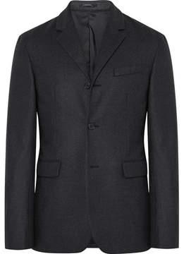 Jil Sander Charcoal Slim-Fit Stretch-Wool Flannel Blazer
