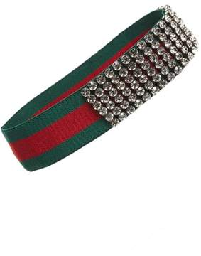 Gucci Webby Crystal Embellished Headband