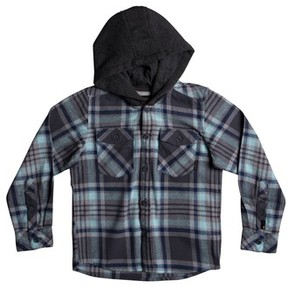Quiksilver Boy's Hooded Plaid Flannel Shirt